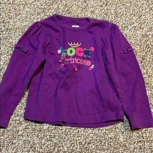 Okie Dokie purple long sleeve t shirt